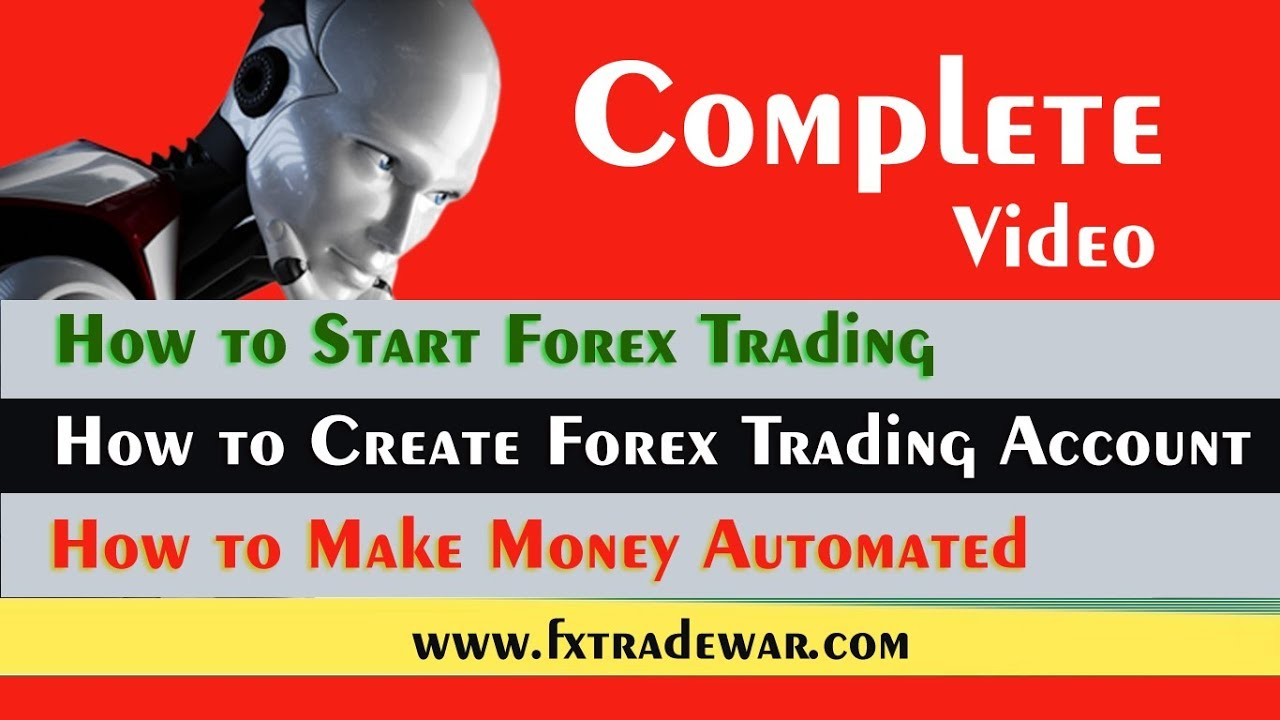 How to create a forex trading account