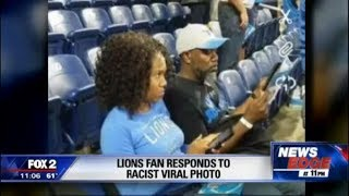Why Are Y'all Even There?: Cave Mutt Takes Racist Pic Of Black Couple At Lions Game
