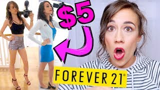 I ONLY WORE $5 OUTFITS FROM FOREVER 21 FOR A WE...
