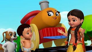 Chhuk Chhuk Chalti Rail Gaadi | Hindi Rhymes for Children | Infobells