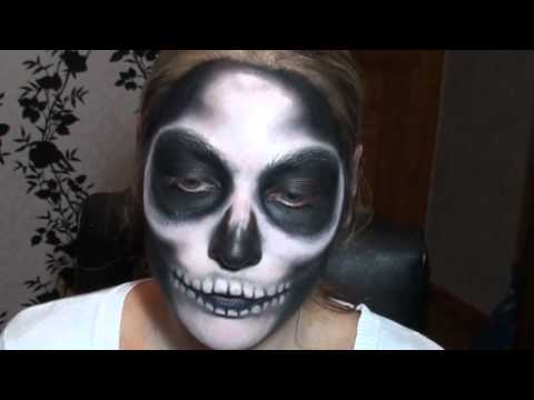 tutoriel maquillage squelette skull makeup youtube. Black Bedroom Furniture Sets. Home Design Ideas