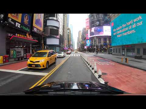 ⁴ᴷ⁶⁰ Driving In NYC From Queens To 2nd Avenue, 42nd Street, Garment District, Midtown (May 23, 2020)