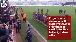 Diyarbakırspor taraftarından Erciyessporlu futbolculara anlamlı destek