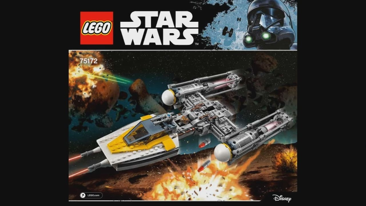 Lego Star Wars 75172 Y Wing Starfighter Instruction Timelapse