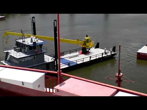 2 Deck Barge Launched Amelia, LA 7 25 12