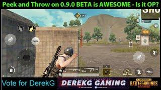 Vote for DerekG + PEEK and THROW on 0.9.0 Global BETA is SO OP?!?! | PUBG Mobile