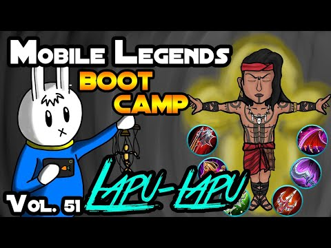 LAPU-LAPU - TIPS, ITEMS, SPELL, EMBLEMS, TRICKS, AND GUIDE - MGL MOBILE LEGENDS BOOT CAMP VOLUME 51