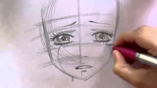 Manga Tutorial - How  to draw crying girl