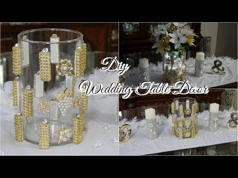 DIY DOLLAR STORE GLAM WEDDING CENTERPIECE DECOR IDEA | DIY GLAM HOME DECOR