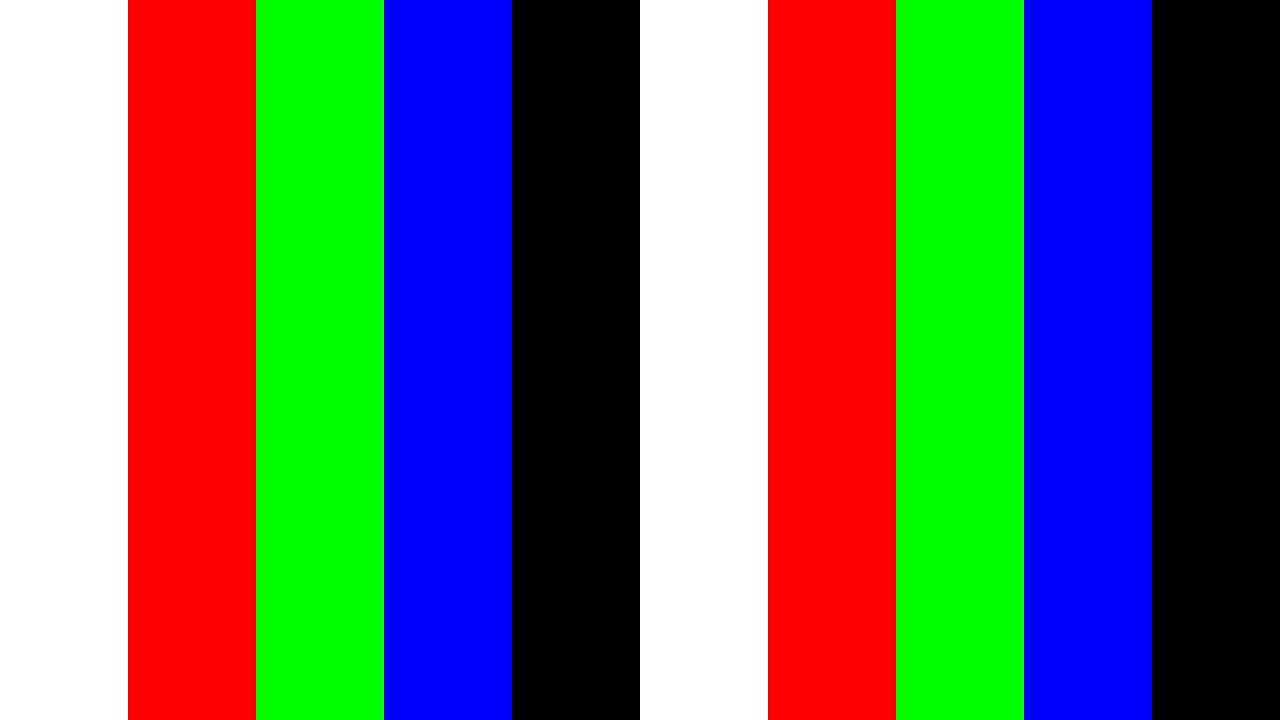 8K 8p UHDTV Monitor Test 8min (Bright/dark/color pixels)