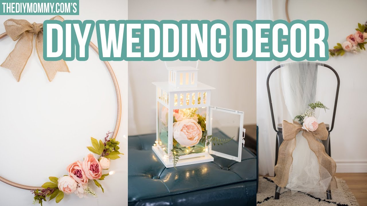 DIY WEDDING DECOR | Modern Wreath, Chair Decoration & Centerpiece ...