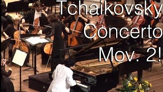 Charlie Albright - Tchaikovsky Piano Concerto, Mov. 2 with the Spartanburg Philharmonic Orchestra