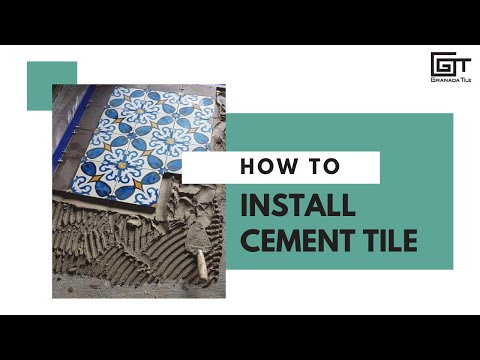 How To Install Cement Tile Youtube