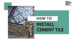 How to Install Cement Tile