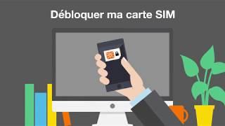 Espace client Pro - Débloquer sa carte SIM