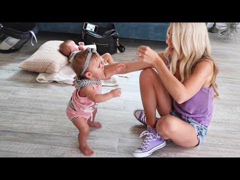 SAVANNAH TEACHES TWIN BABIES HOW TO WALK!!! (KID SWAP)