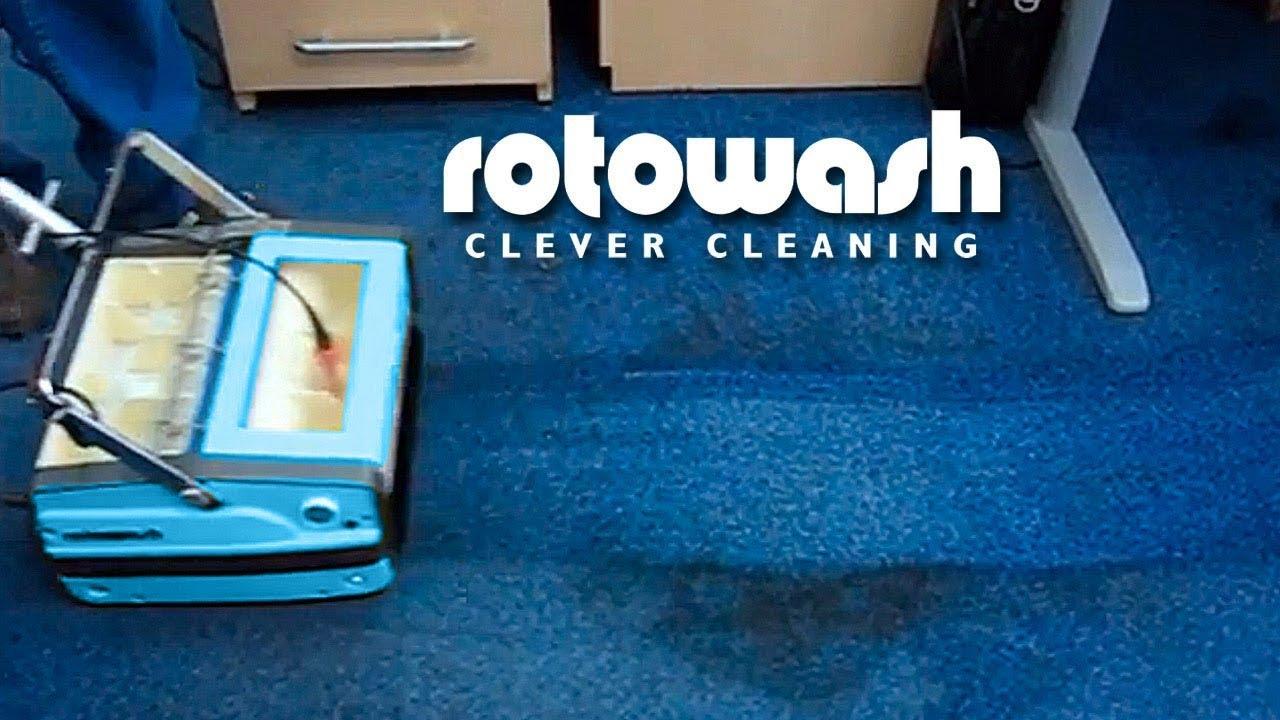 Rotowash Carpet Cleaning - Multi-Floor Cleaning Machine - DEMO - YouTube