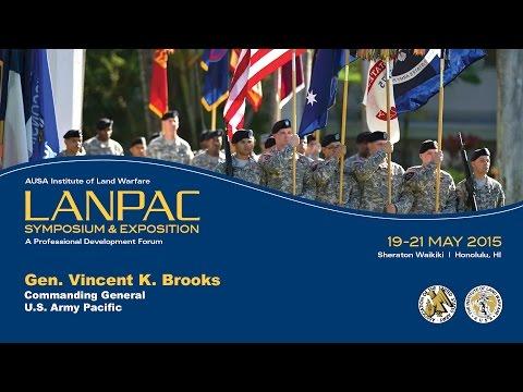 AUSA LANPAC Symposium 2015 - Gen. Vincent Brooks - USARPAC