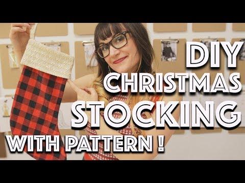 DIY Christmas Stocking | Sew Anastasia
