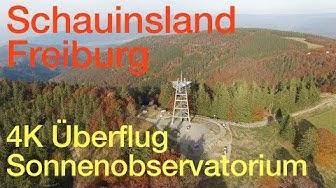 Schauinsland bei Freiburg 4K Überflug Sonnenobservatorium