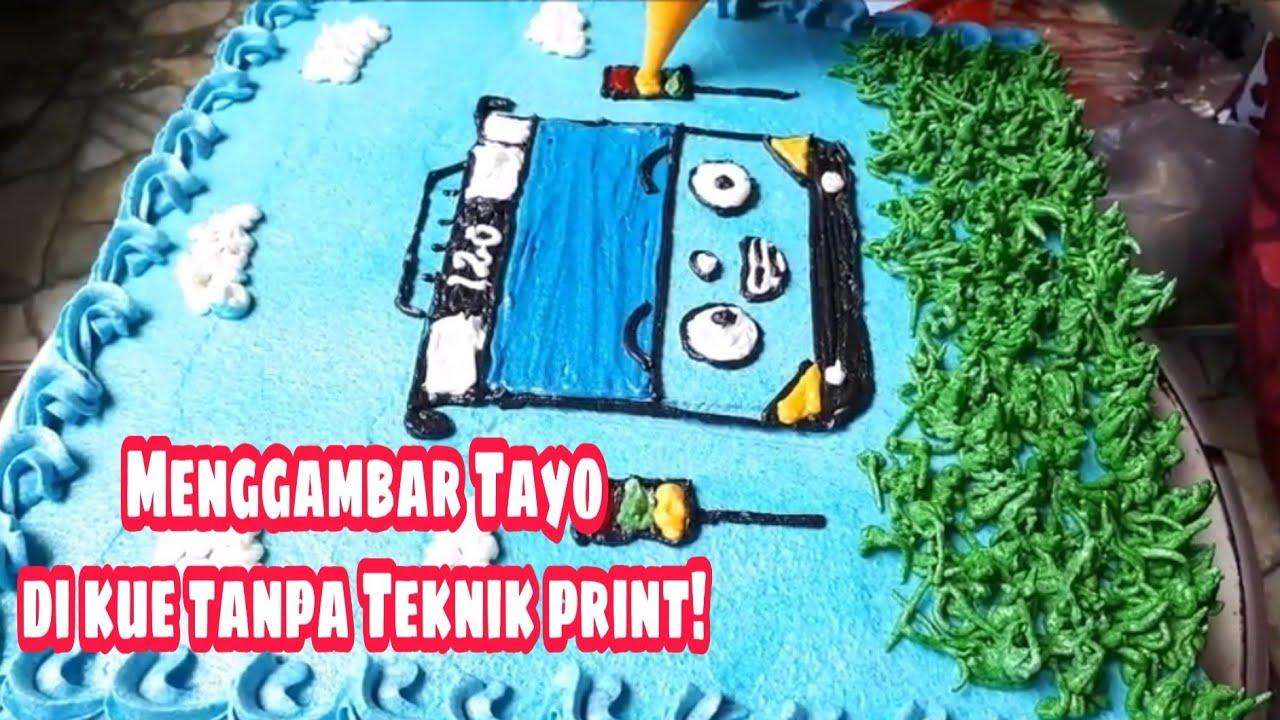 Kue Ulang Tahun Anak Menggambar Bus Tayo Di Kuetart Youtube