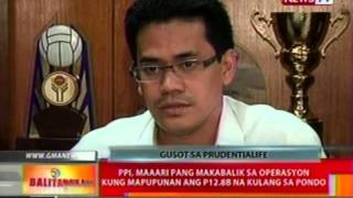 Bt: Prudentialife Plan Inc., Suspendido Ang Operasyon