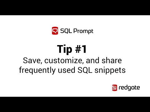 SQL Prompt Snippet Manager