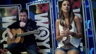 "Jana Kramer ""I Hope It Rains"" private performance for 99.5 WQYK - Tampa"
