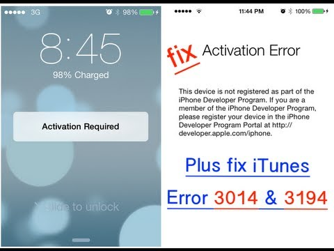 iphone activation required how to fix ios 7 activation required amp itunes 3014 amp 3194 9664