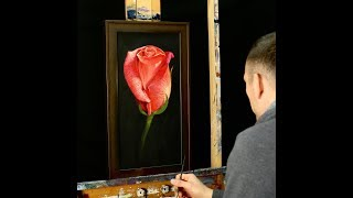 Acrylic Rose Painting Time Lapse - Floral Artwork by Tim Gagnon thumbnail