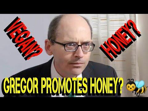 DR GREGOR PROMOTES HONEY FOR CANKER SORES - IS HE VEGAN ???