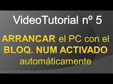 TPI - Videotutorial nº 5 - Como activar automaticamente bloc num al encender nuestro PC