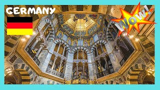 GERMANY: MAGNIFICENT 800AD CATHEDRAL in AACHEN (CHARLEMAGNE'S CHAPEL)