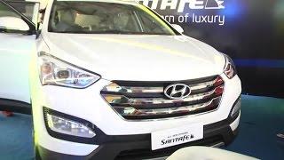 Hyundai Santa Fe Interior Review At International Auto Show 2015 - Hybiz.tv