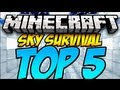Top 5 Minecraft Sky Survival Maps (HD)