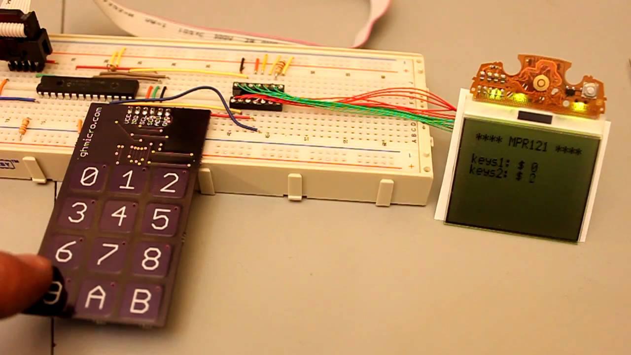 Mpr121 Capacitive Touch Sensor Board Youtube