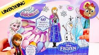 Disney 迪士尼 Frozen 冰雪奇缘 Elsa 艾莎 公主 Anna 安娜 炫酷 果冻 凝胶 贴纸 装饰 套装 展示