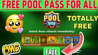 Free pool pass for all 8 ball pool|| Claim Free Pool Pass For All||Season Of Big Cat||