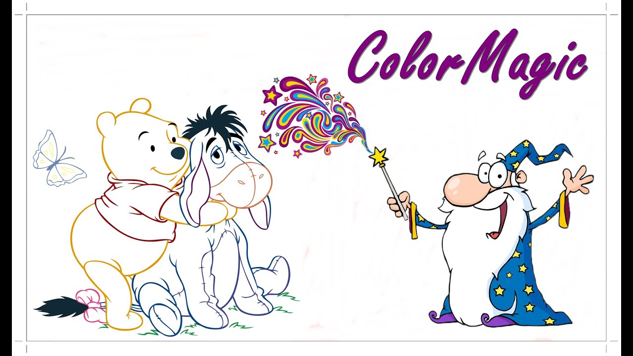 fun winnie the pooh and eeyore coloring picture let u0027s color in