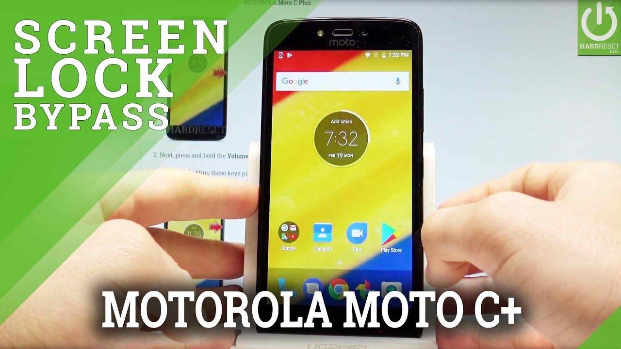 Bypass Screen Lock in MOTOROLA Moto C Plus - Hard Reset / Format