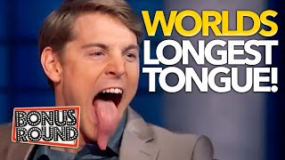 LONGEST TONGUE IN THE WORLD!! WOW! They COULD Not Guess Who It Was! To Tell The Truth