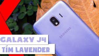 Khui hộp Samsung Galaxy J4 Tím Lavender: Nâng cấp ROM lên 32GB
