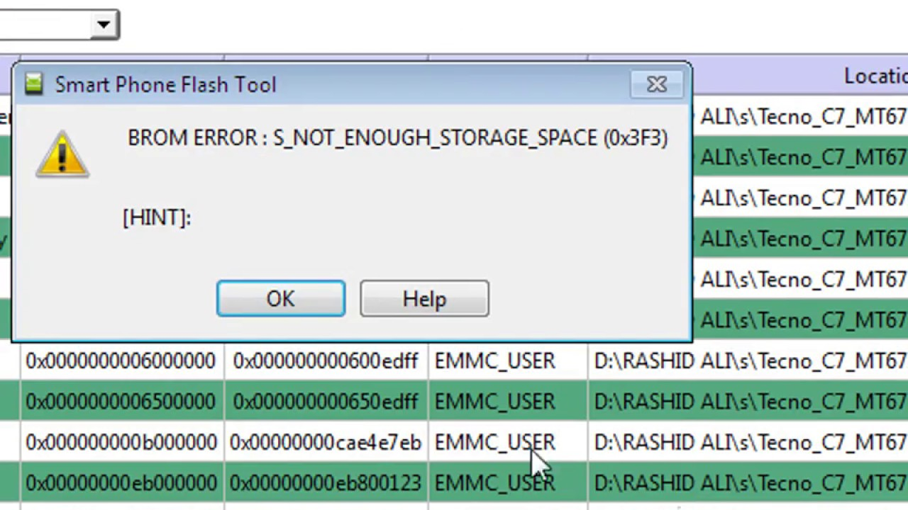 s_not_enough_storage_space (0x3f3)