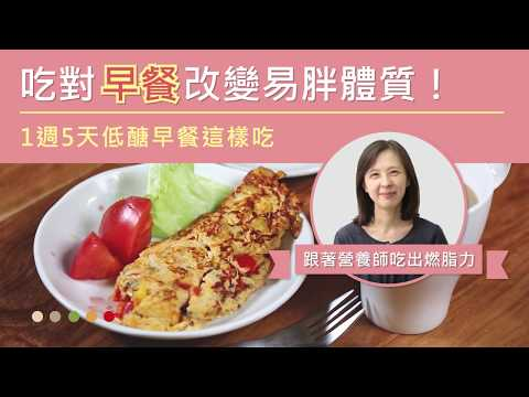 吃對早餐改變易胖體質!1週5天低醣早餐這樣吃