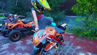 Senya and new mini BIKE, Best Power Wheel Bike for kids