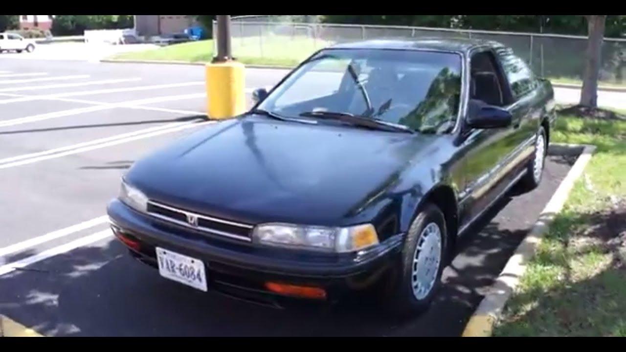 1992 Honda Accord LX WalkAround StartUp  Tour  YouTube