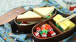 Lego Picnic Lunch Box - LEGO in Real Life / Stop Motion Cooking