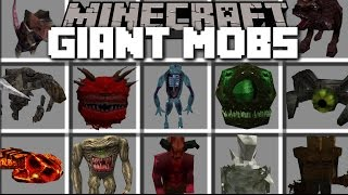 Minecraft GIANT MOBS MOD / FIGHT AGAINST INHUMANE MOBS AND SEE WHAT THEY DO!! Minecraft