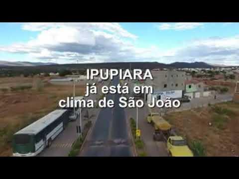 Ipupiara vista do céu em clima de São João.