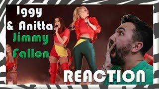 Reação || Iggy Azalea feat. Anitta @ The Tonight Show Starring Jimmy  Fallon - Switch